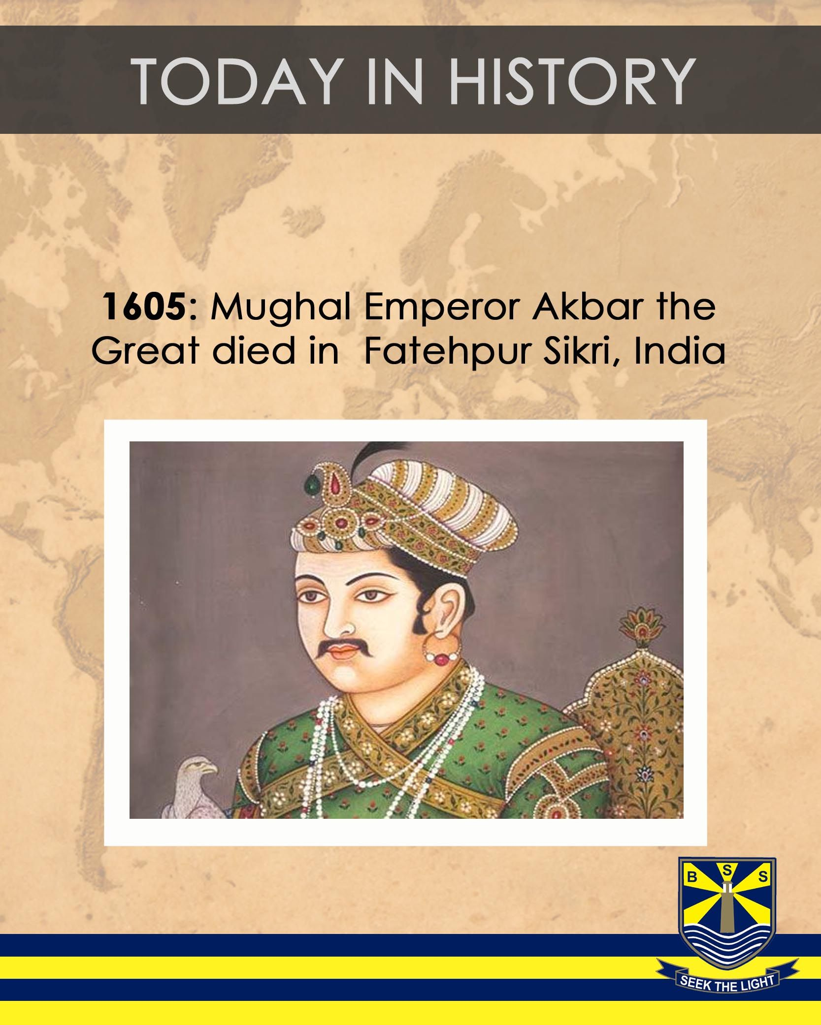 munim khan khan i khanan was a mughal general under both emperors todayinhistory 1605 mughal emperor akbar the great died in fatehpur sikri