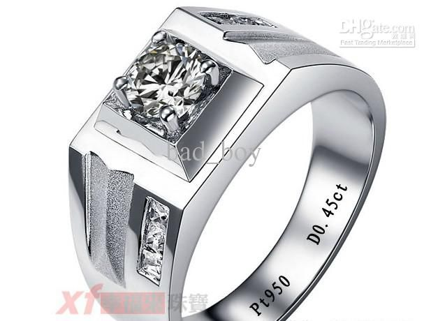 Fresh Natural Diamond Wedding Ring For Men White Gold H Round Engagement Jewelry Custom Baby