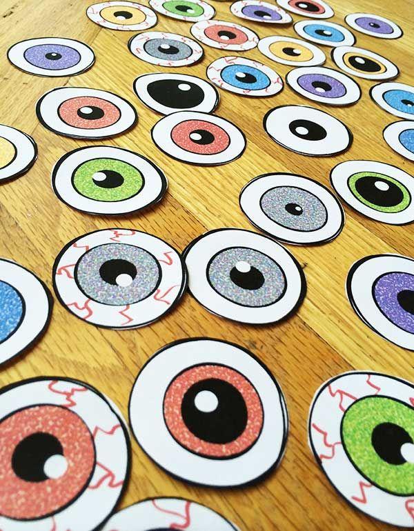 Halloween Eyeball Printable Art and Decor Printable art, Decor - halloween decoration printables