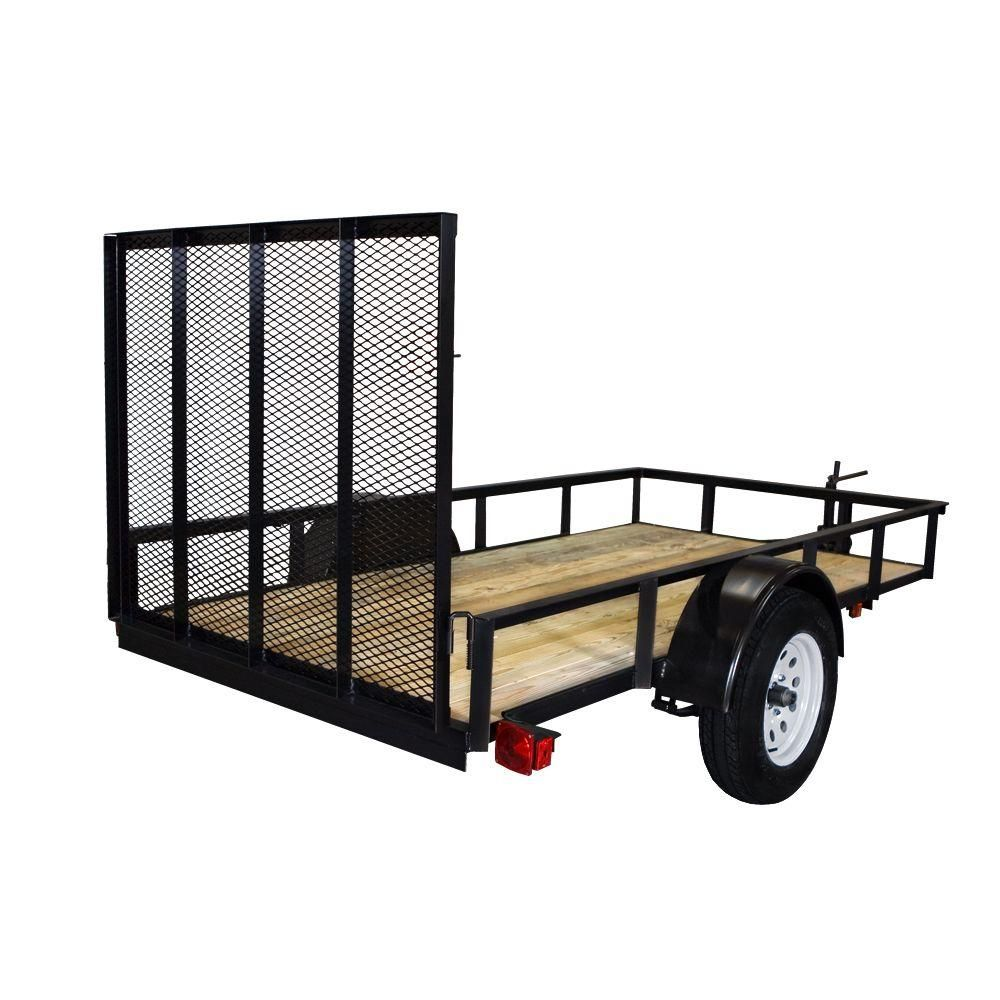 Unbranded Triple Crown 2110 Lb Capacity 5 Ft X 10 Ft Utility Trailer Tchd5x103k The Home Depot Utility Trailer Trailer Aluminum Trailer