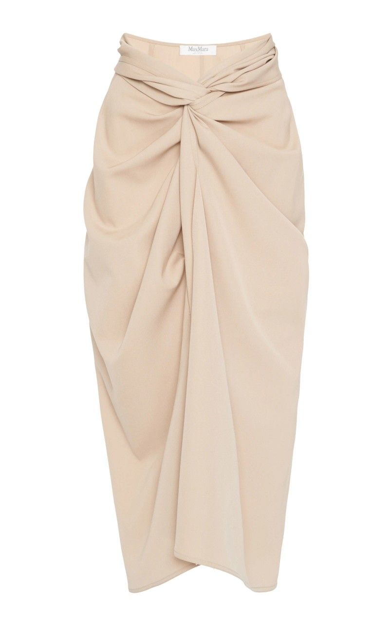 78c02d449 Tailored from light wool-crepe, Max Mara's 'Uva' pencil skirt has a high  waist and knotted front detail that creates a sarong-like silhouette.
