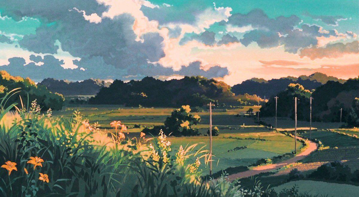 Studio Ghibli On Twitter Anime Scenery Wallpaper Studio Ghibli Background Scenery Wallpaper