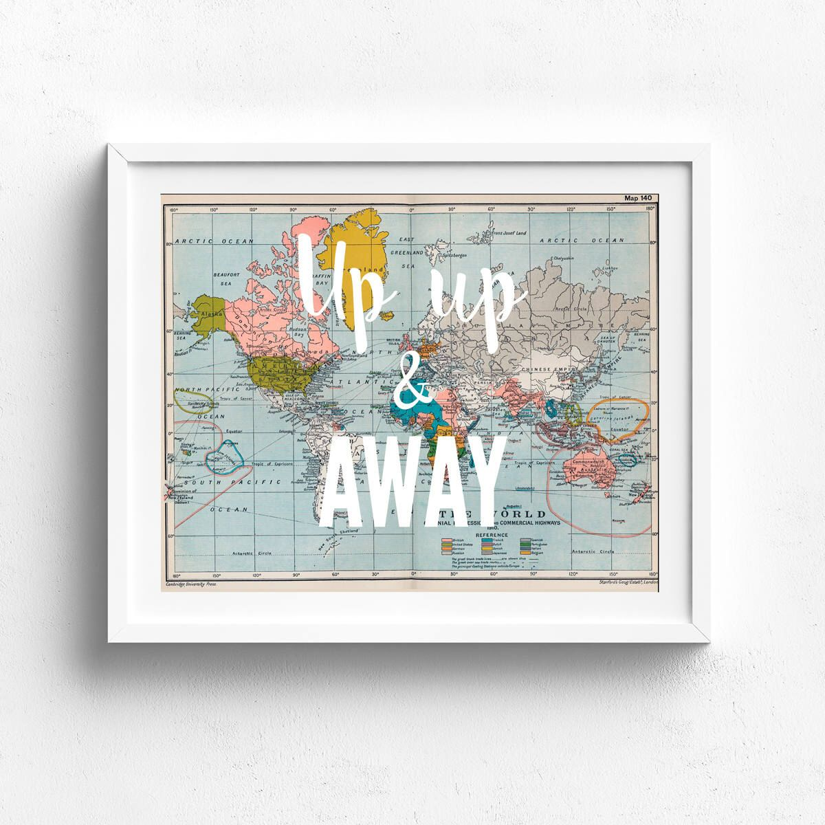 Up up and away vintage map print printable map travel theme up up and away vintage map print printable map travel theme nursery vintage map decor nursery map world map old map map typography gumiabroncs Image collections