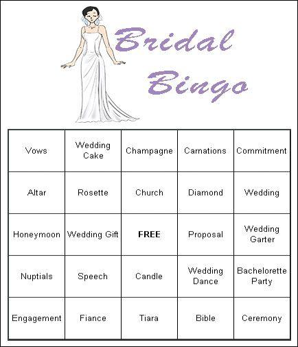 bridal shower bingo free printables 20 bingo cards