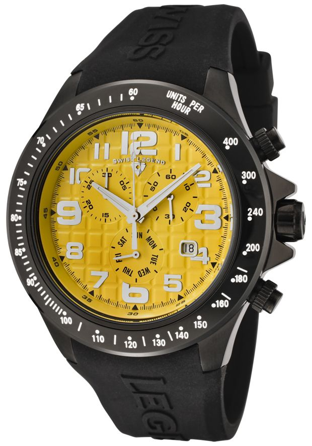 Price:$139.99 #watches SWISS LEGEND 30041-BB-07, With a detailed facade displaying multi-functional subdials, this Swiss Legend chronograph is style built with precision.
