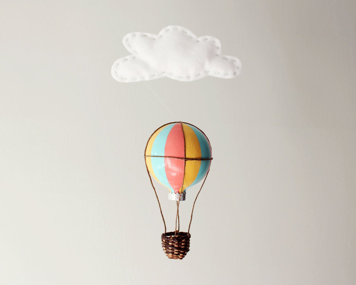 hot air balloon (make bead in middle) | Polymer Clay | Pinterest ...