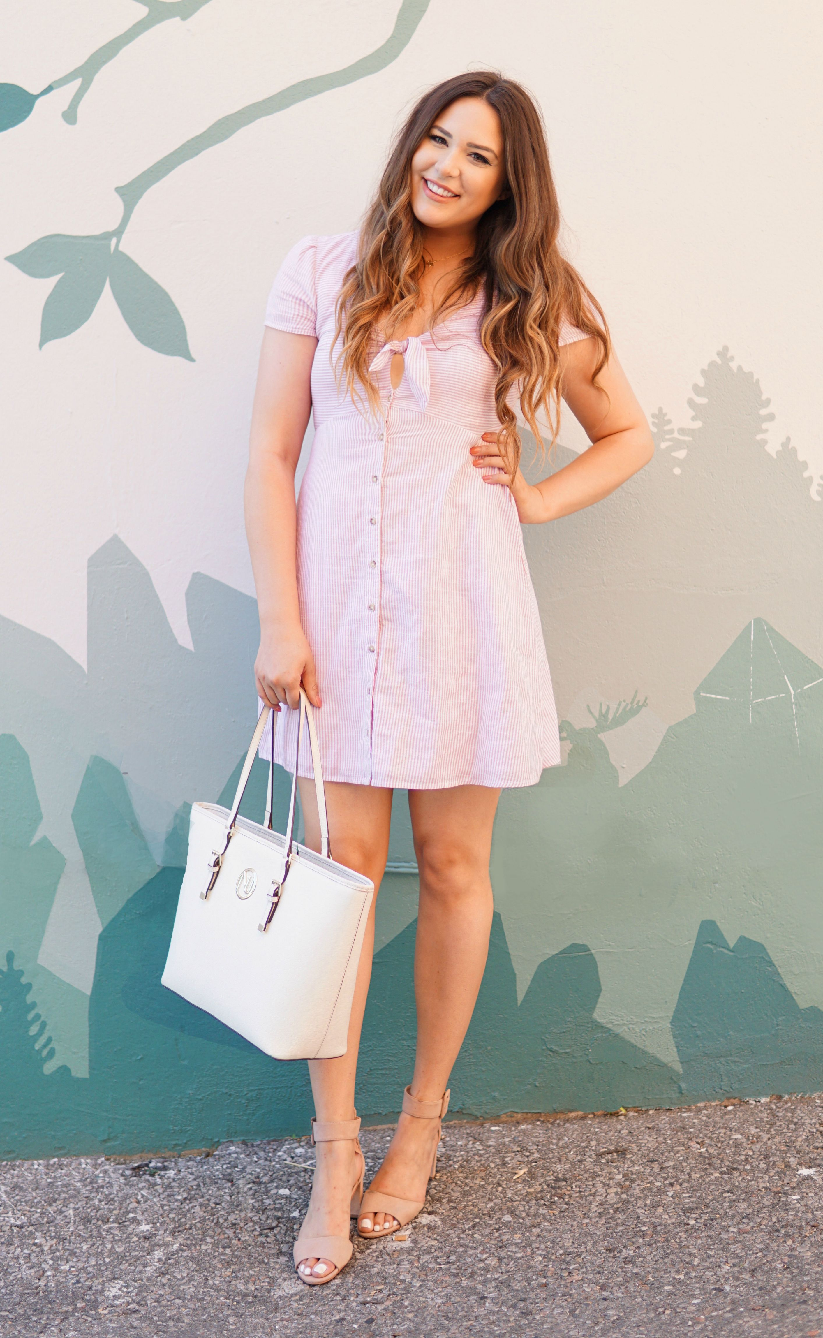 1d1f457b4ff1 So many cute dresses   Fashion, beauty and lifestyle blogger Michelle Kehoe  of Mash Elle shares 10 modest dresses you can wear to church, school, ...