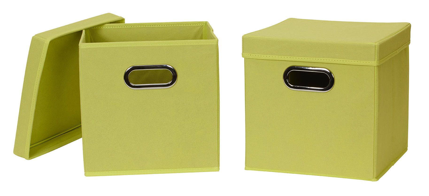 Collapsible Fabric Storage Cube with Lid
