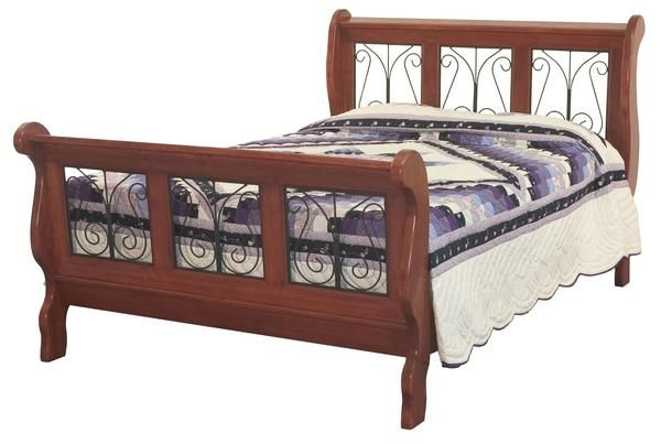 Amish Classic Wrought Iron Sleigh Bed Amish Classic
