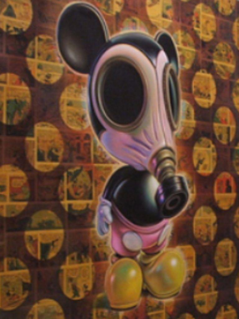 Mickey Mouse Street Art Gas Mask Stencil Street Art Street Art Beautiful Art