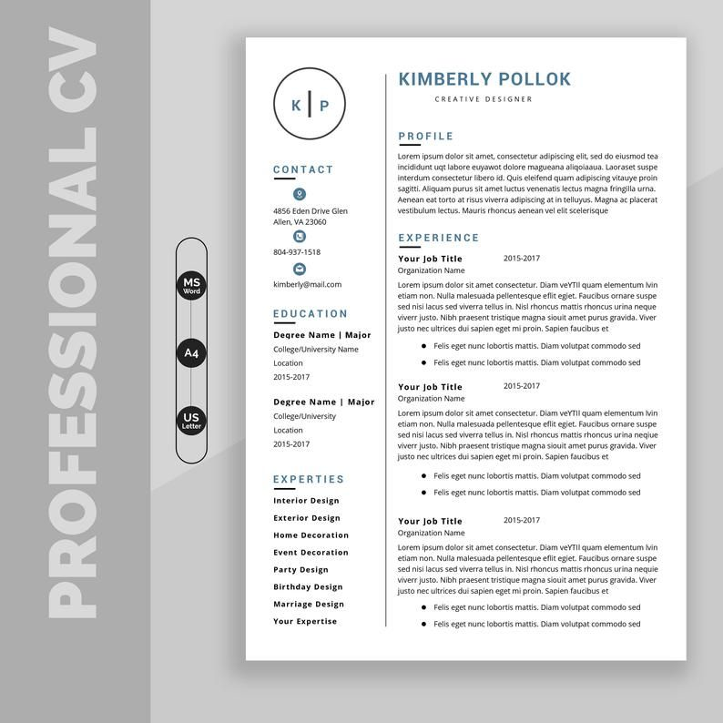 Resume Template Professional Resume Template Instant Download Resume Template Word Cv Cv Template Resume Template Free Resume Template Professional Resume Template Resume Template Word