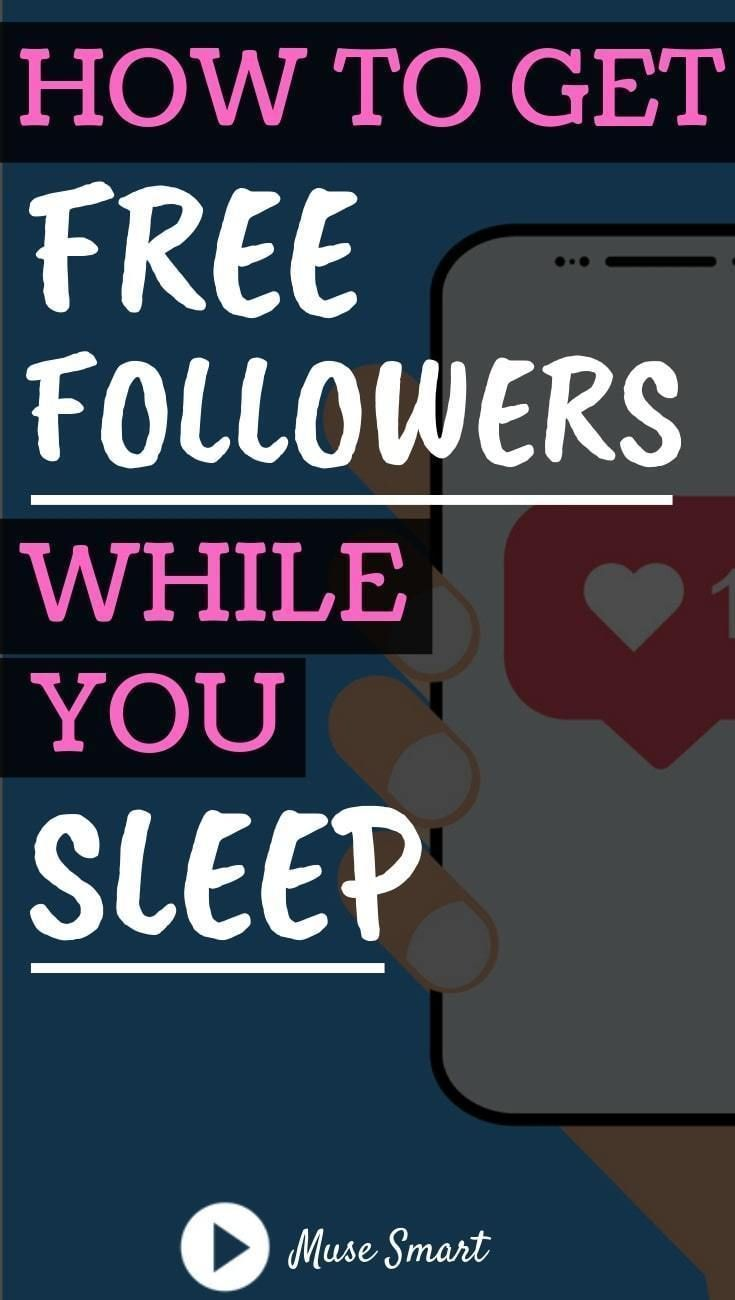 How to get free followers on instagram while you sleep