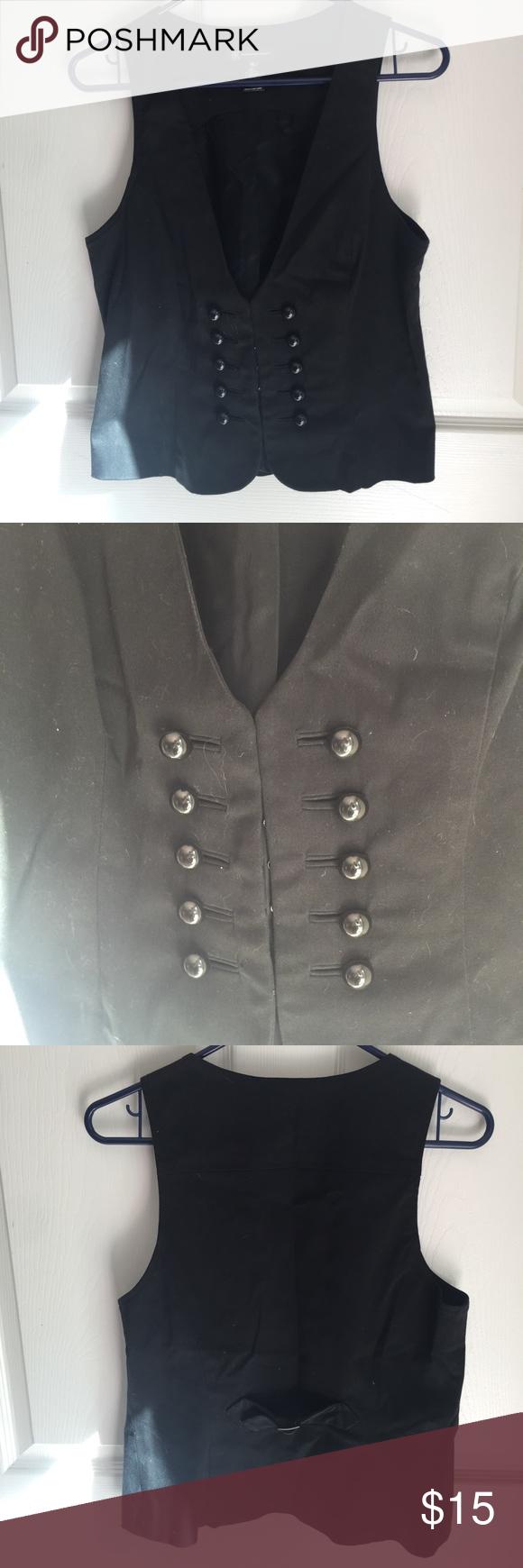 Black vest All black best with buttons. INC International Concepts Jackets & Coats Vests