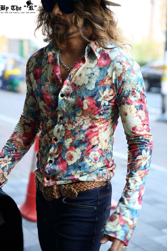 88e649b1664b Pin by Jimmo Designs on Boho :: Hippie :: Summer of Love in 2019 | Mens  fashion wear, Bohemian style men, Mens paisley shirts