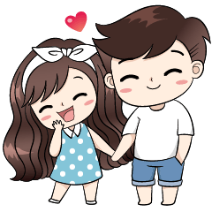 check out the Boobib Cute Couple sticker by B&B DESIGN on chatsticker.com