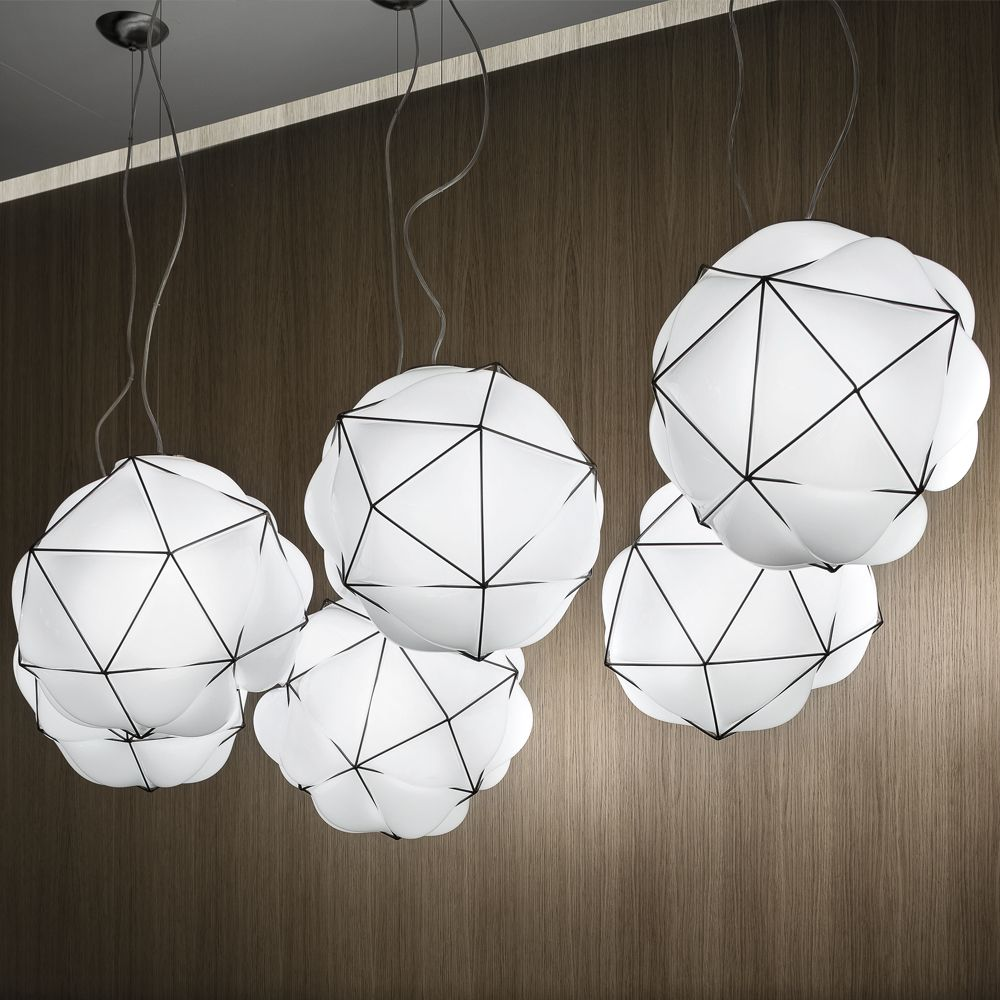 lighting pendants glass. Semai Alberto Saggia Valerio Sommella Vistosi Lighting Pendant Lamp Suspension Mouth Blown Glass Ceiling Glossy White Pendants