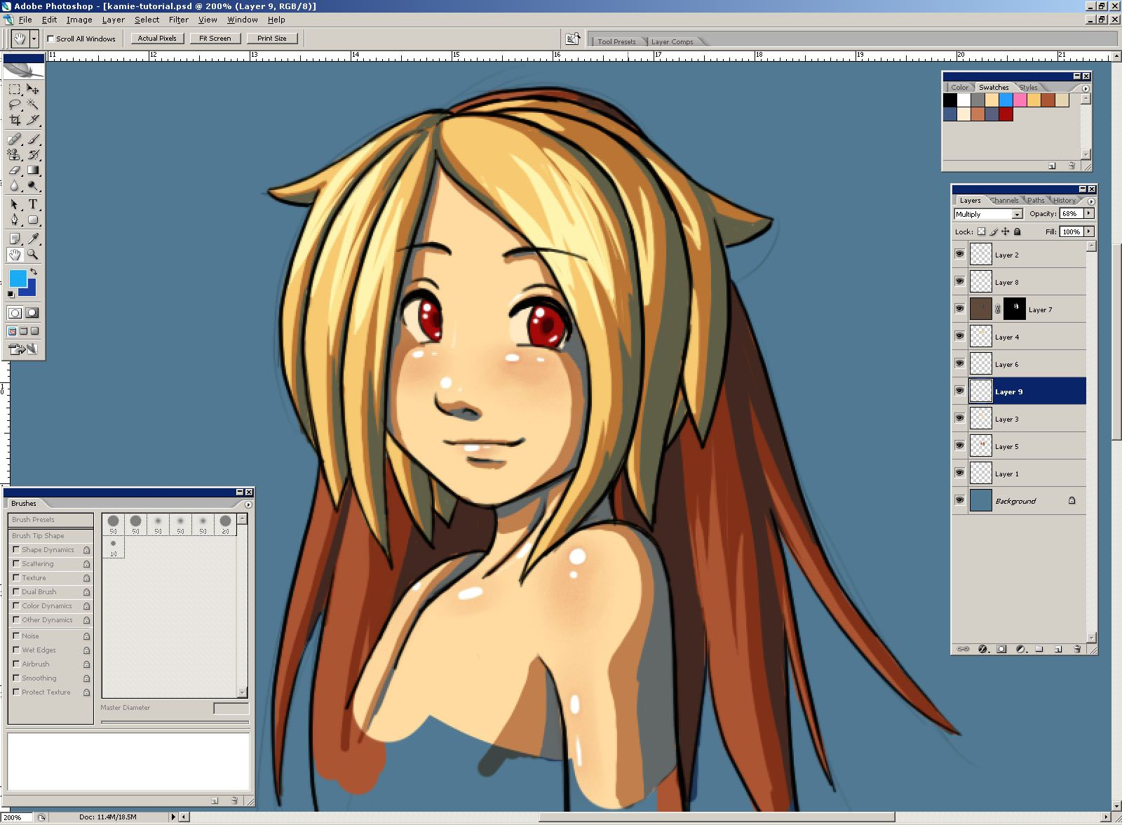 cel shading with pens - Google Search