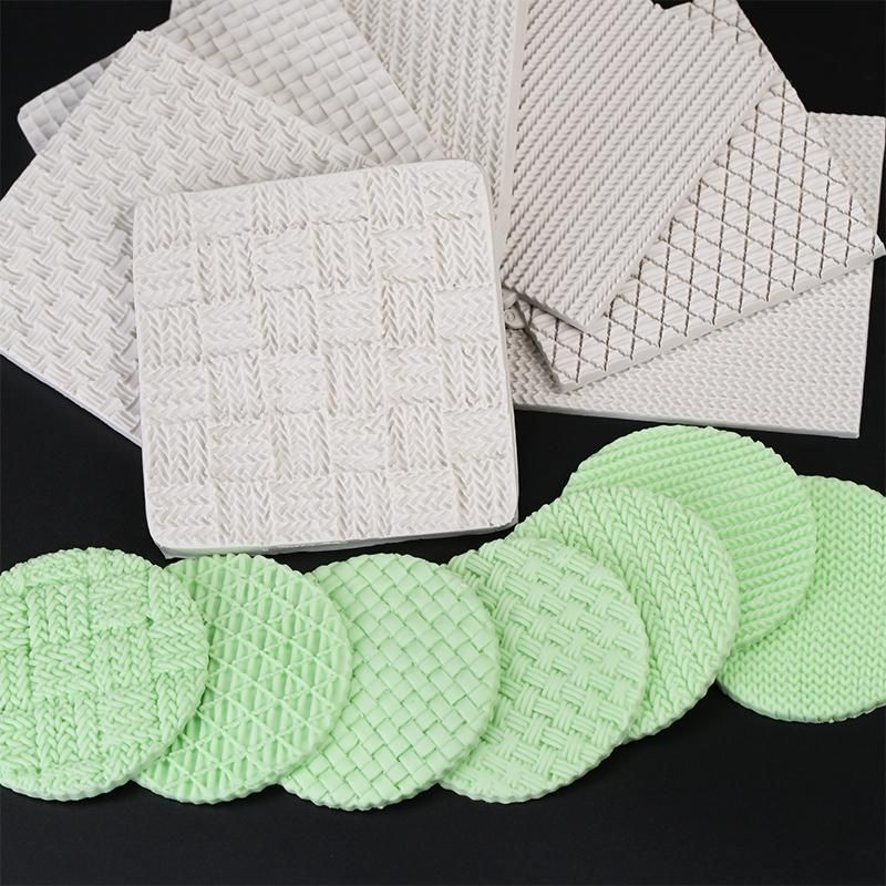 Knitting Pattern Embossing Baby Silicone Mat Mould Sugarcraft Cake Decor Lovely