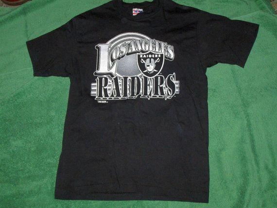 Los Angeles Raiders Vintage Nfl T Shirt Tee Large Nfl T Shirts Tee Shirts T Shirt