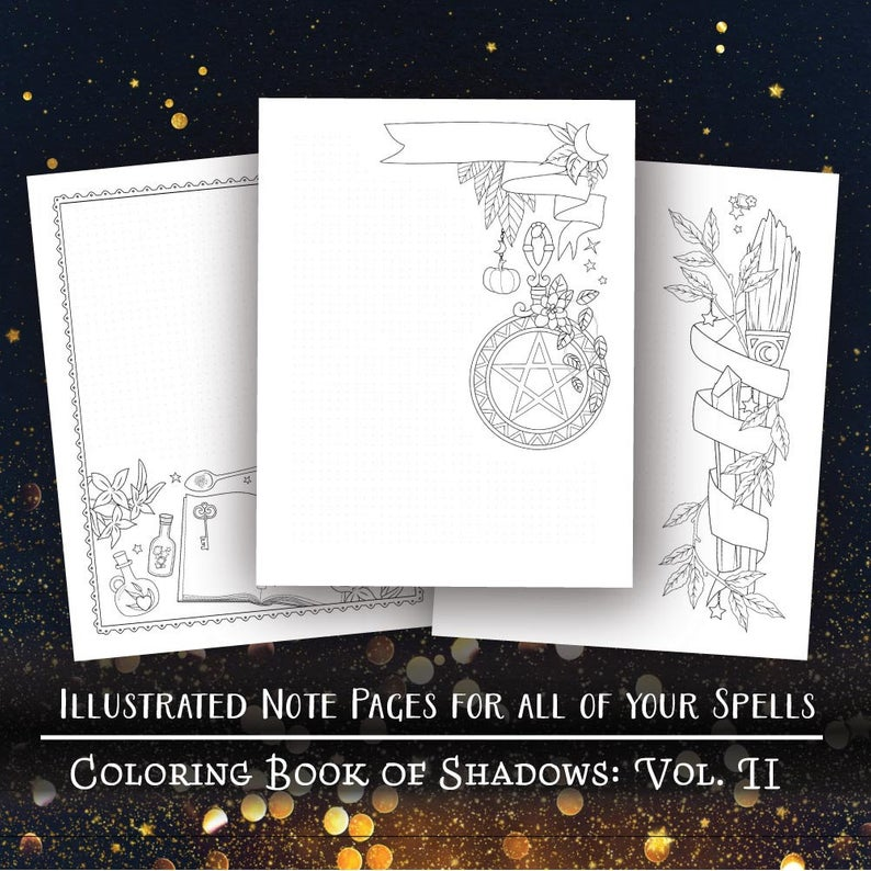 Coloring Book Of Shadows: Vol. II Printable PDF Grimoire Etsy In 2020  Book Of Shadows, Coloring Books, Create Your Own Book