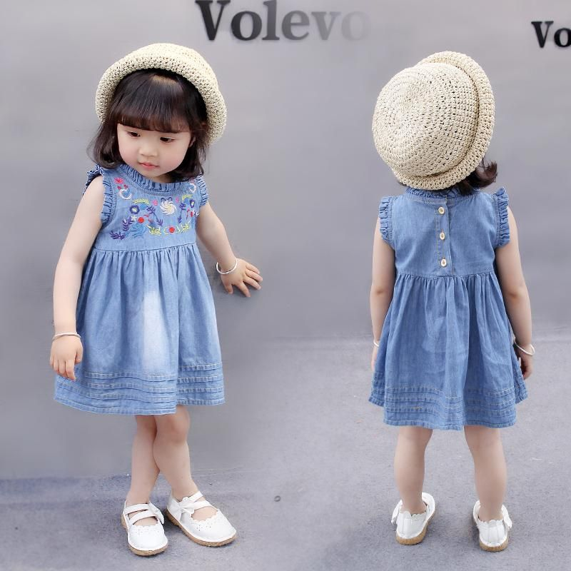 women Baby Summer Wear Denim Skirt Infant 0-1-Year-Old Semi-2 to 3 a Year of Age dress for women 4 Kids Clothes Girls' Shirt 5