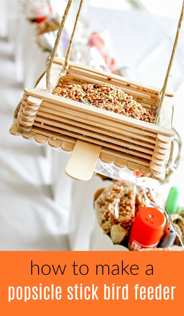 How to Make Popsicle Stick Bird Feeders | Tonya Staab