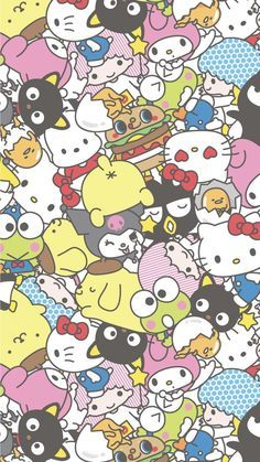 Printed Hello Kitty Fabric 6x9 Squares for Sewing