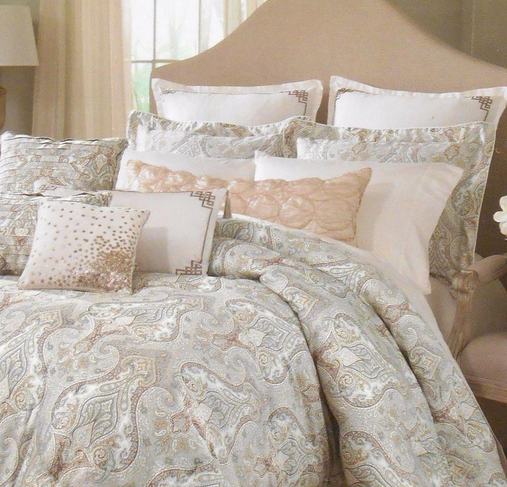 Raymond Waites Mantra King Duvet Set With Pillow Shams Paisley
