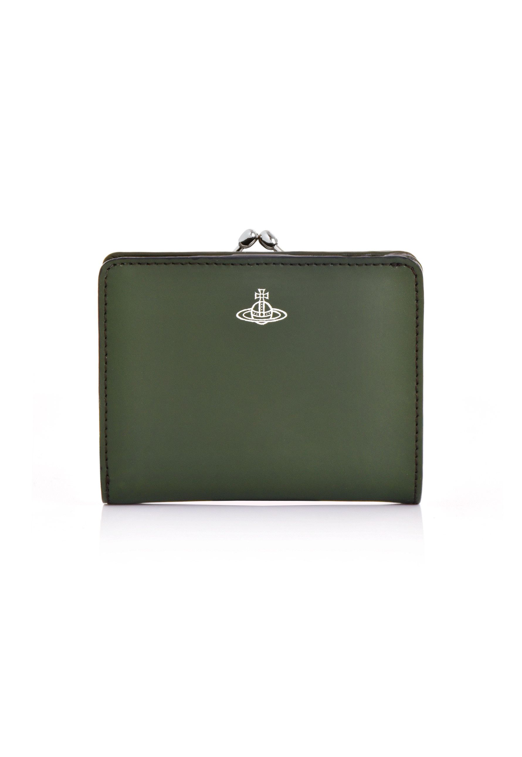 0dfc22e334 Vivienne Westwood Alex Purse With Frame Pocket 51010020 in green. Vivienne  Westwood's Alex clasp purse is cut from green leather for a timelessly ...