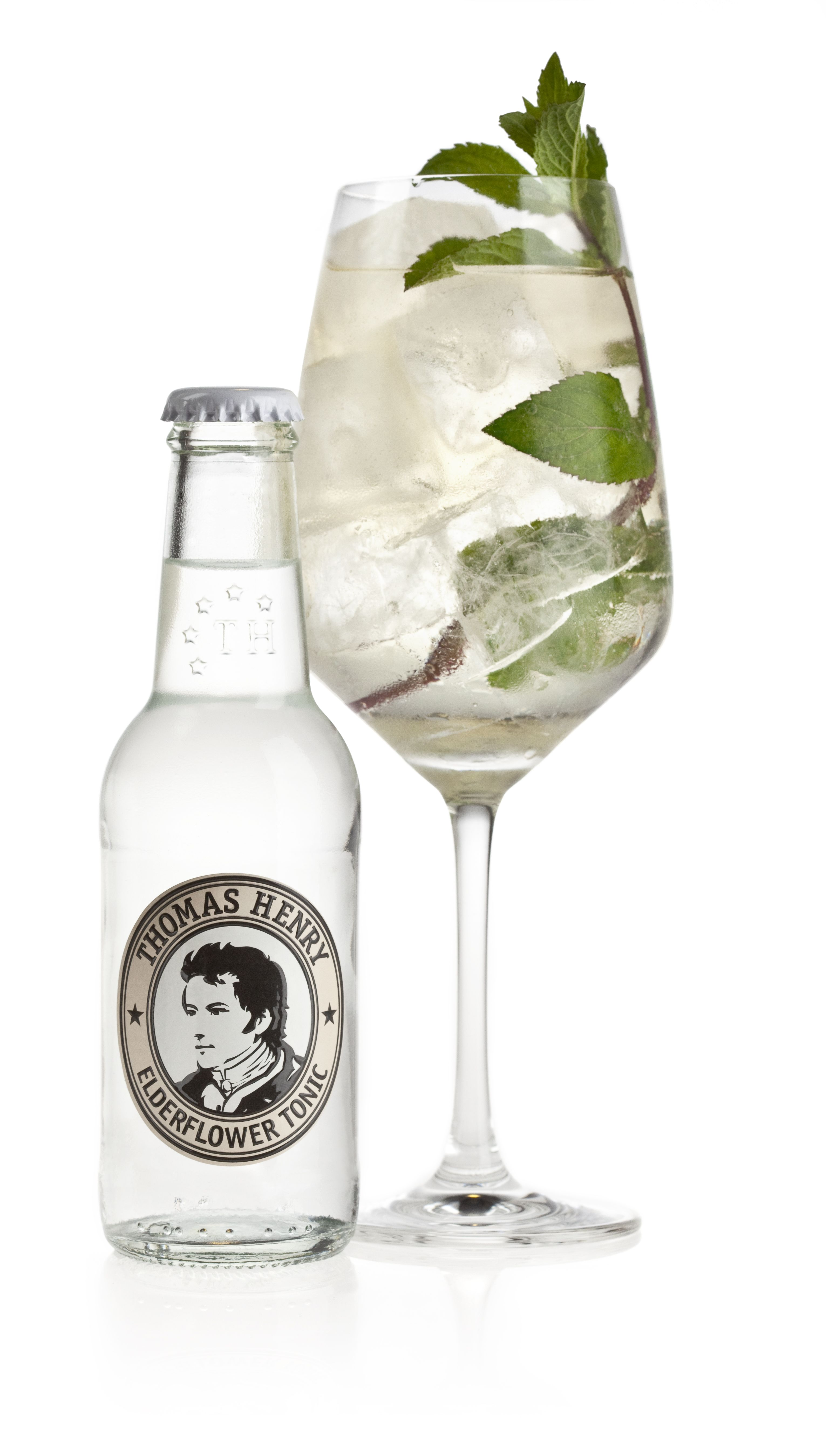 Frische Minze The Henry 5 Cl Lillet Blanc 15 Cl Thomas Henry Elderflower