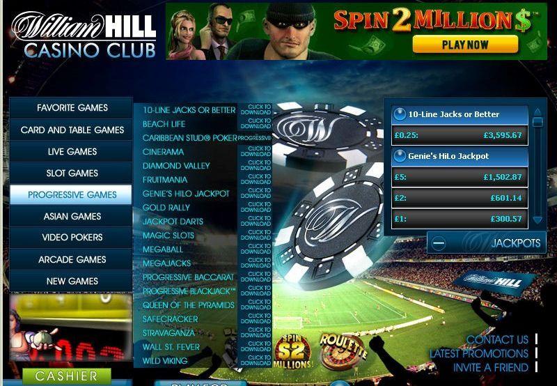 William Hill Casino Casino, Slots games, Jacks or better