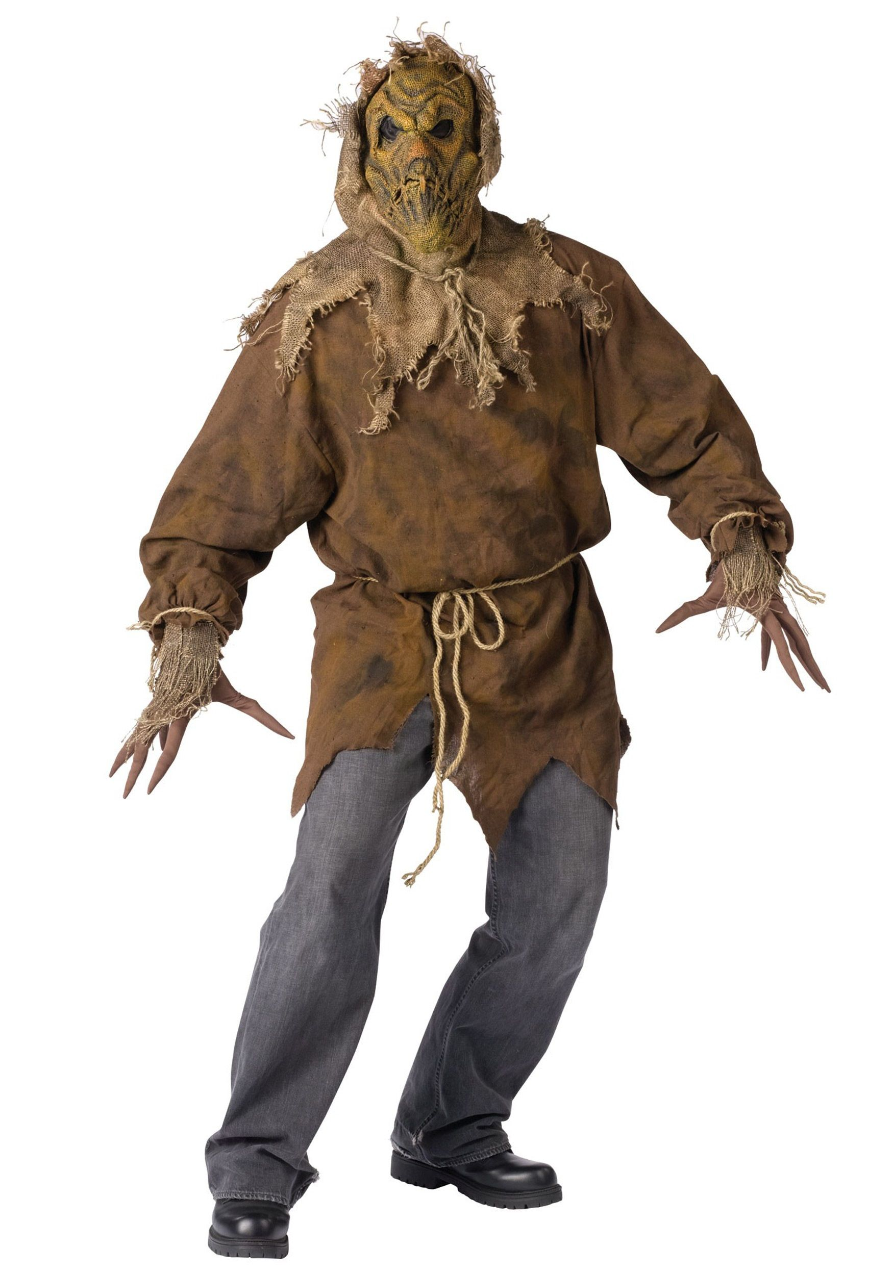this scarecrow costume is truly scary great for any halloween party or for a haunted house this costume is sure to scare all