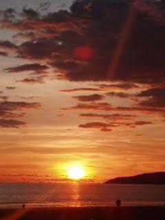 the most beautiful sunset in the world. tanjung aru beach, sabah, malaysia.