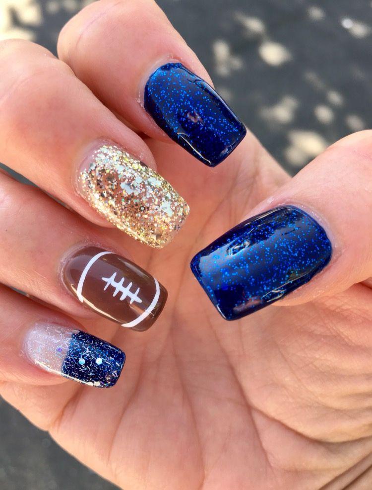 Los Angeles Rams Football Nails Football Nail Art Football Nails Football Nail Designs