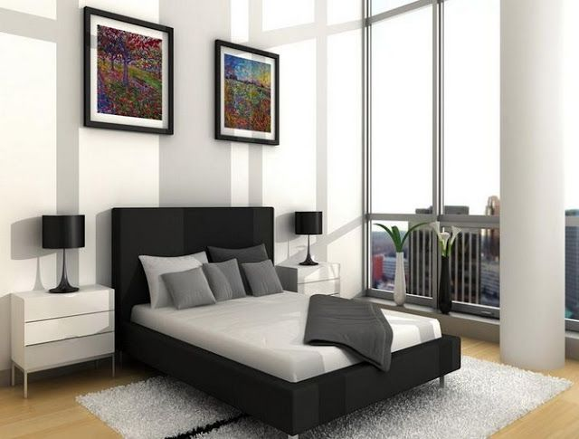 Simple Black And White Mens Bedroom Decorating Ideas White Bedroom Design Bedroom Interior Elegant Bedroom