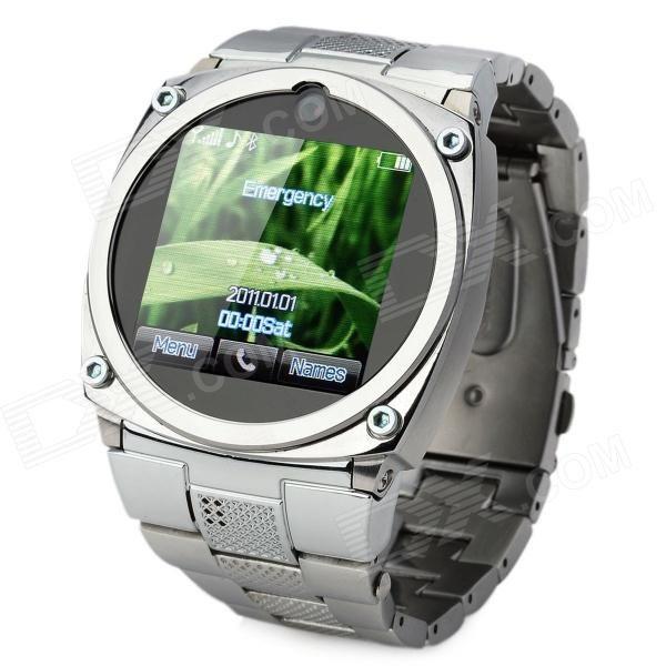 "TW818 1.4"" Resistive GSM Wrist Watch Phone w/ 1.3MP Camera / Quad-Band / JAVA / Bluetooth - Silver"