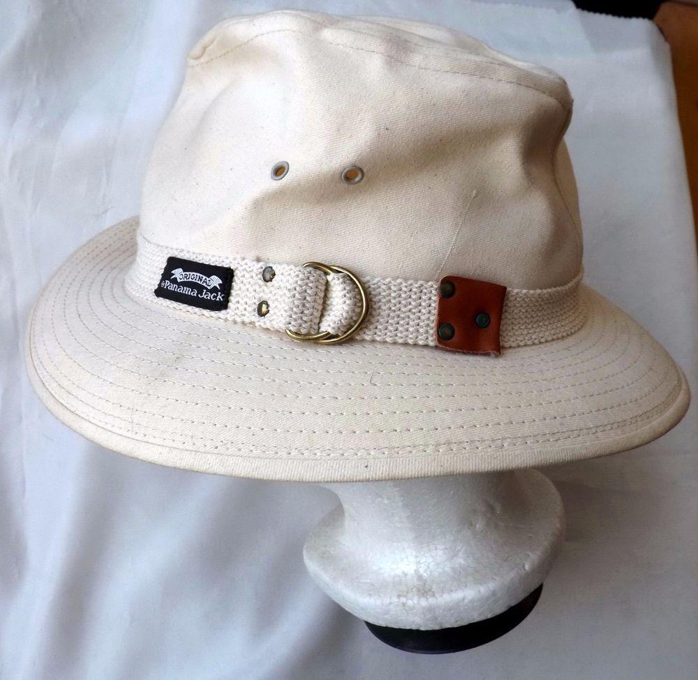 0d471e81752d1f Mens PANAMA JACK Original Canvas Safari Hat 2