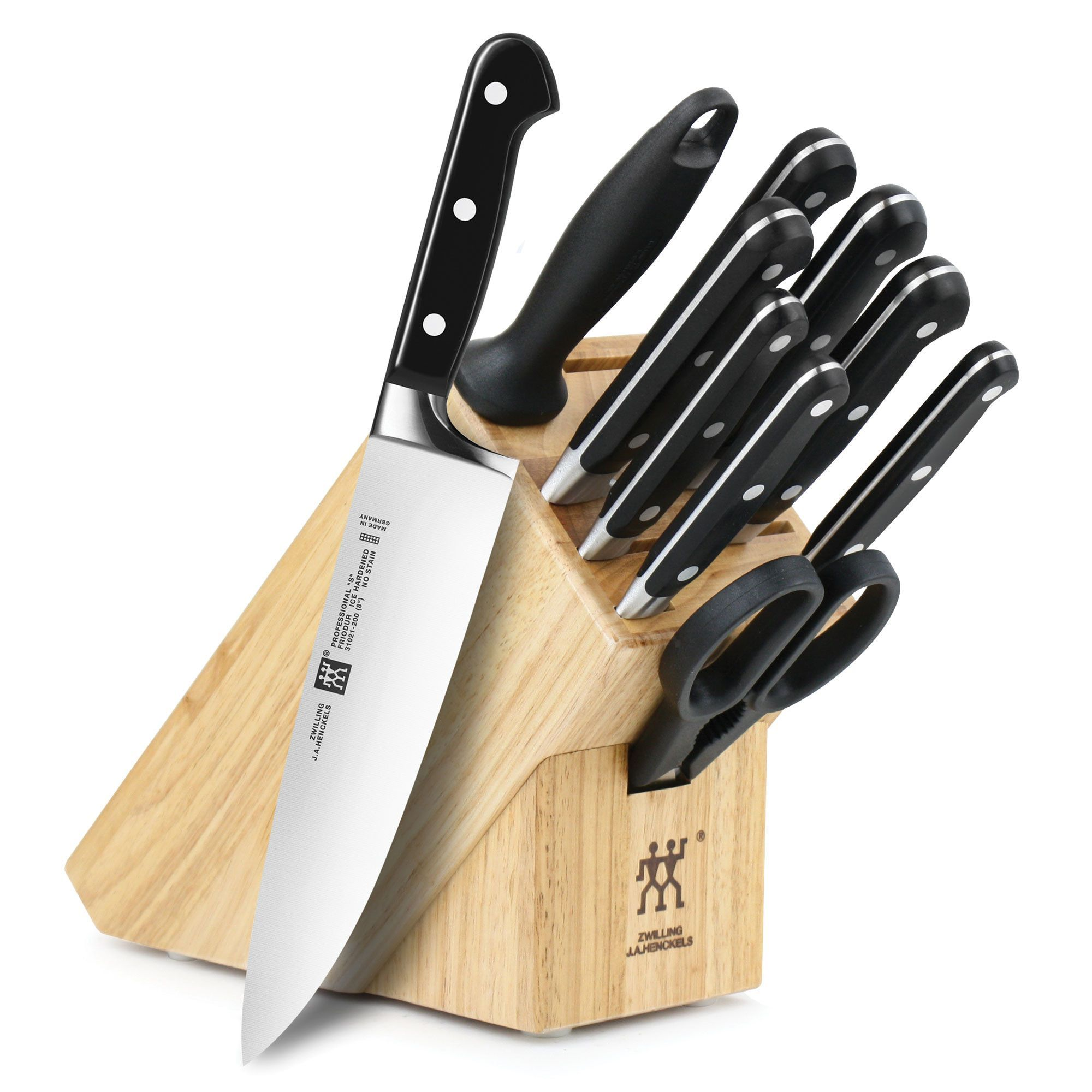 Zwilling ja henckels professional s piece knife block set