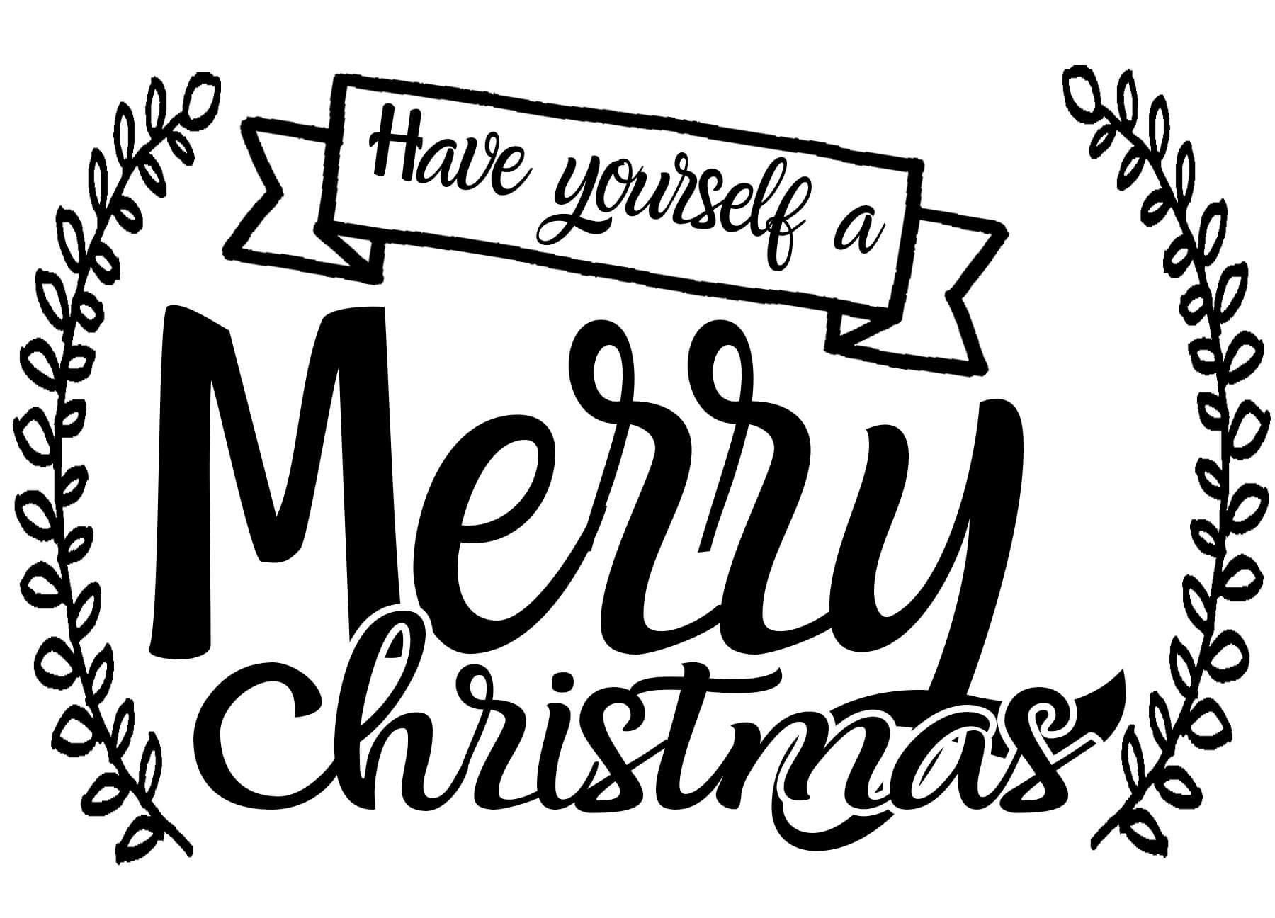 Free Have Yourself a Merry Christmas SVG Christmas svg