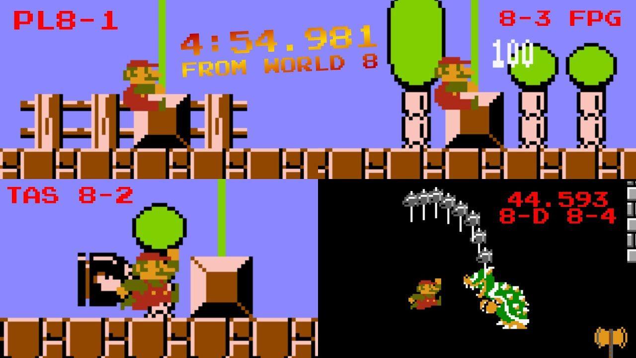A Segmented Speedrun Of 4 54 In Super Mario Bros Was Done In Just Two Segments Super Mario Bros Mario Bros Super Mario