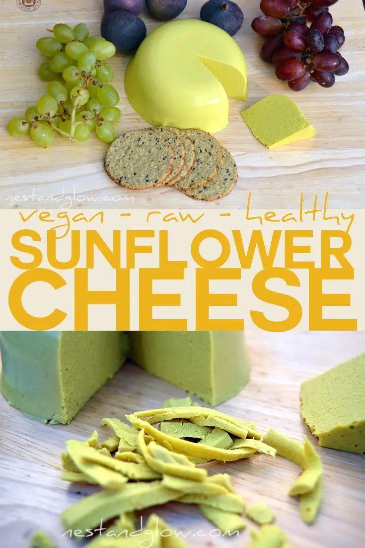 Raw Vegan Sunflower Cheese Raw, vegan sunflower cheese made from soaked sunflower seeds and seaweed