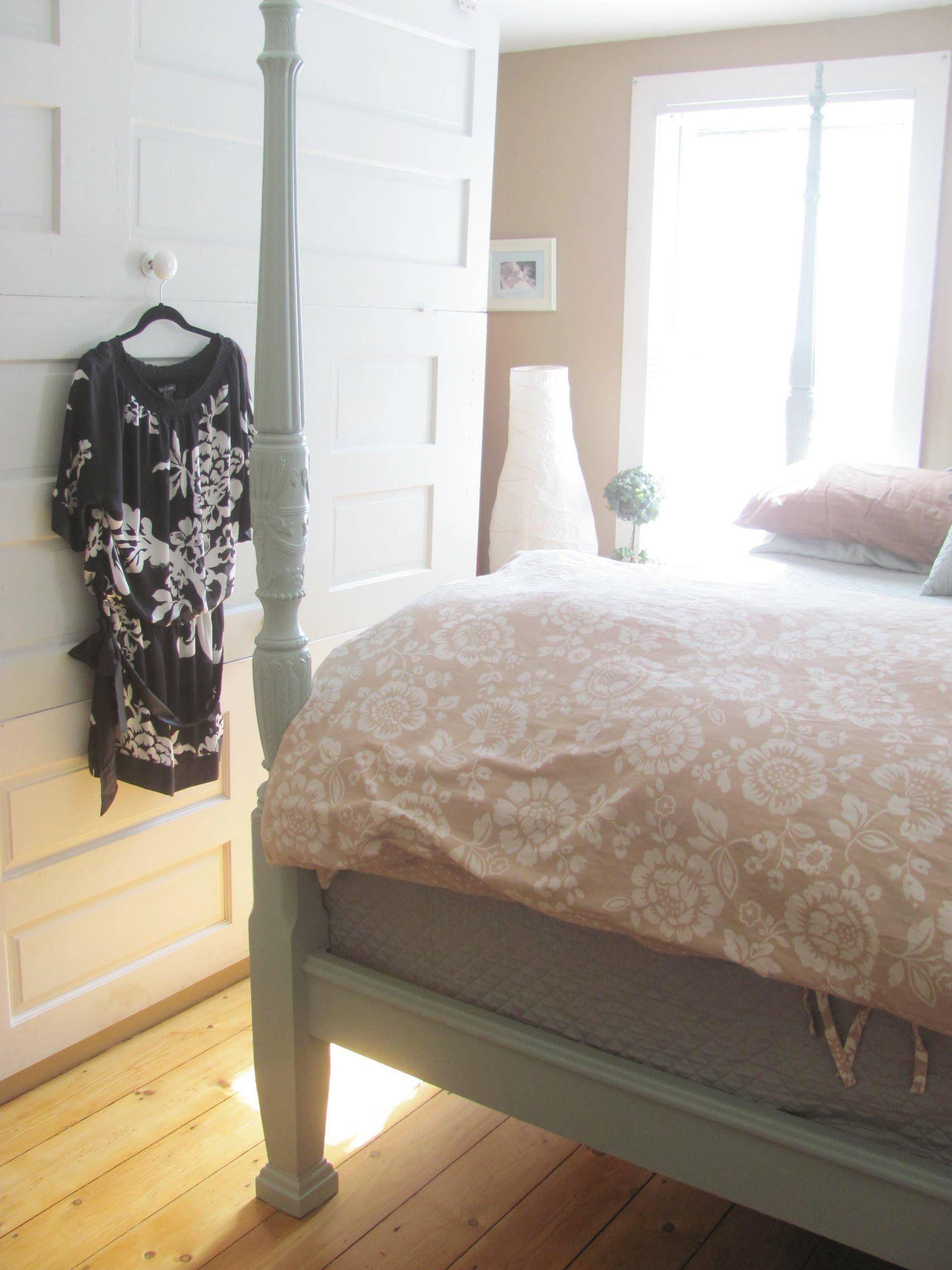 Smokey slate poster bed antique door room divider hidden peace