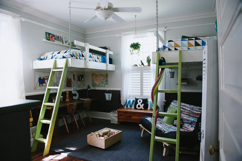 how to build homemade hanging loft bed project