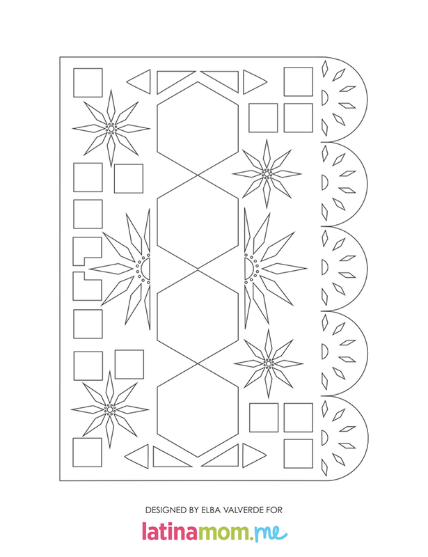 Inventive image within papel picado template printable