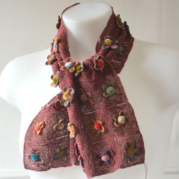 Petite Echarpe Lin Au Crochet De Sophie Digard Fleur Sauvage