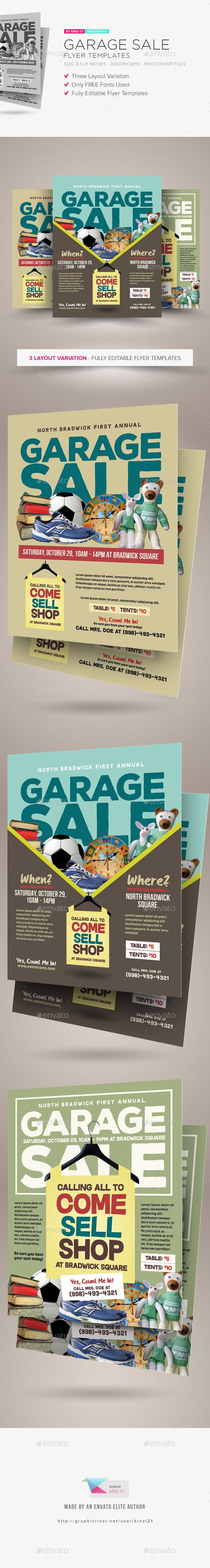 garage sale flyer templates psd template only available here