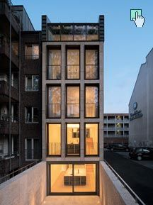 lk architekten wohn und b rohaus schwalbengasse 32 k ln architecture pinterest. Black Bedroom Furniture Sets. Home Design Ideas