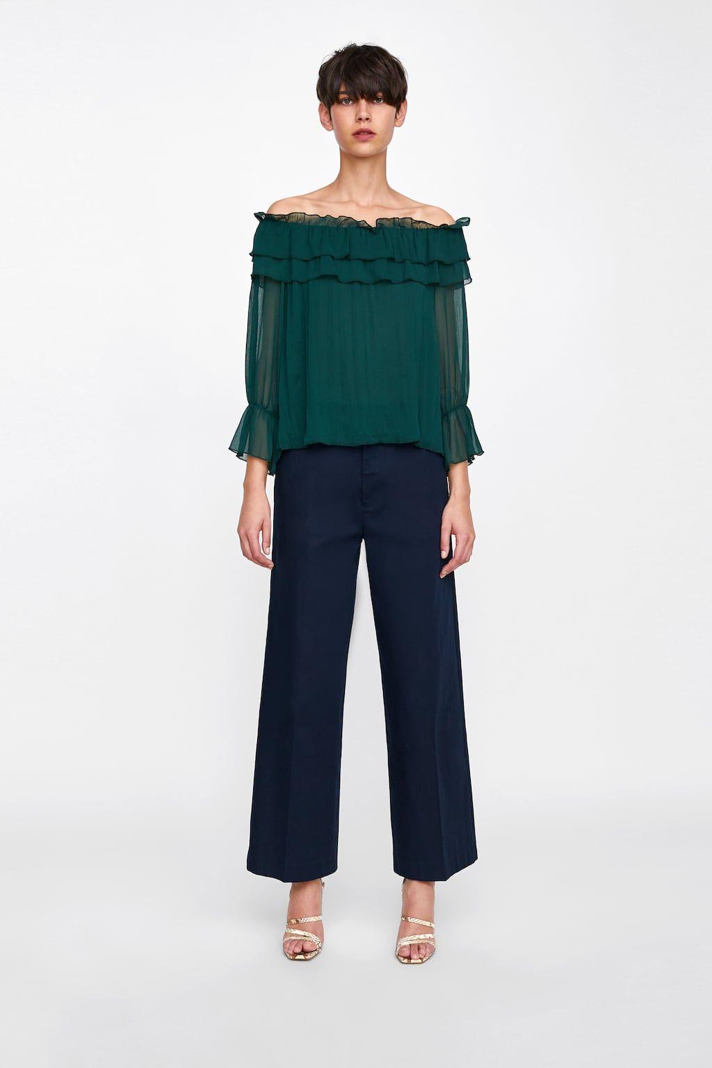 lange blouse zara