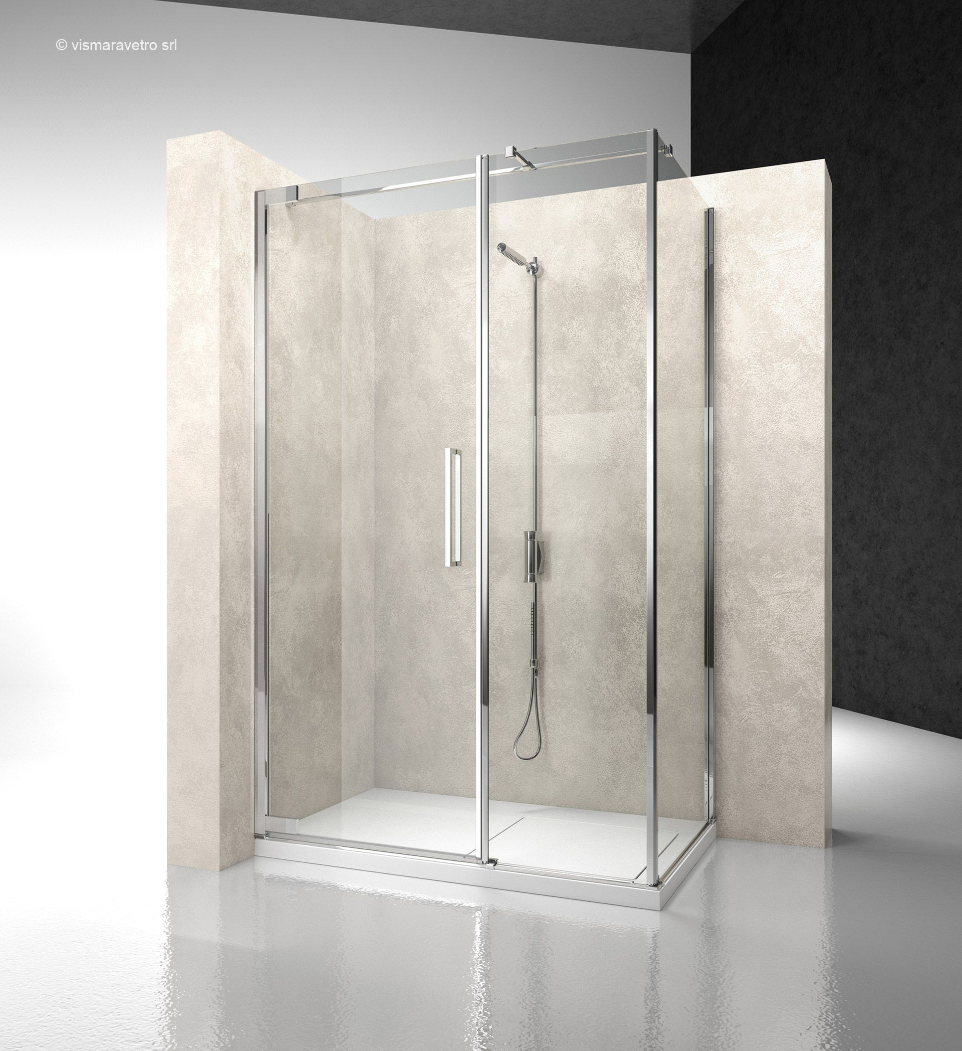 Flare The Pivot Door Shower Enclosure By Vismaravetro Shower Enclosure Frameless Shower Enclosures Bathroom Solutions