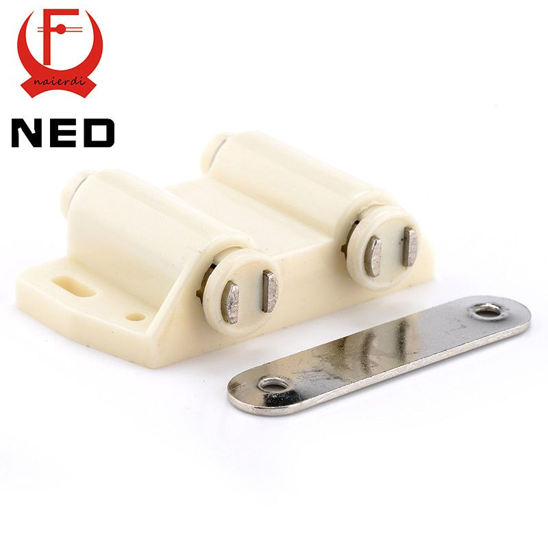 Ned Double Cabinet Catch Kitchen Door Stopper Soft Quiet Close Magnetic Push To Open Touch Damper Buf Door Stopper Furniture Hardware Cabinet Catches